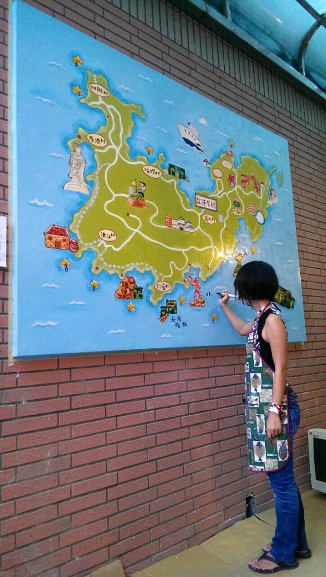 花費數週完成的媽祖手繪地圖